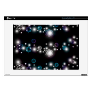 """Snowflake Glow 15"""" Laptop Decal"""