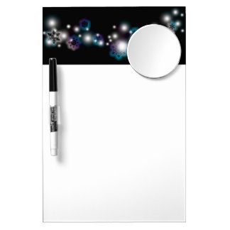 Snowflake Glow Dry Erase Board With Mirror