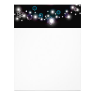 Snowflake Glow Letterhead