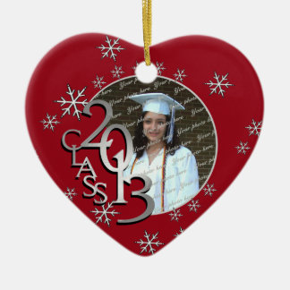 Snowflake Graduate Photo Christmas Tree Ornament