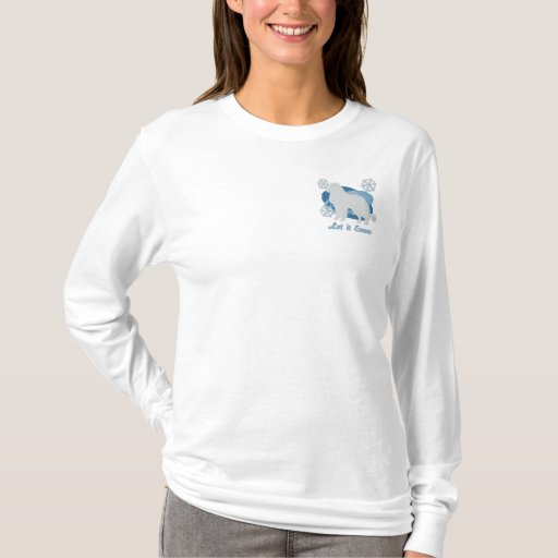 Snowflake Great Pyrenees Embroidered Long Sleeve T-Shirt