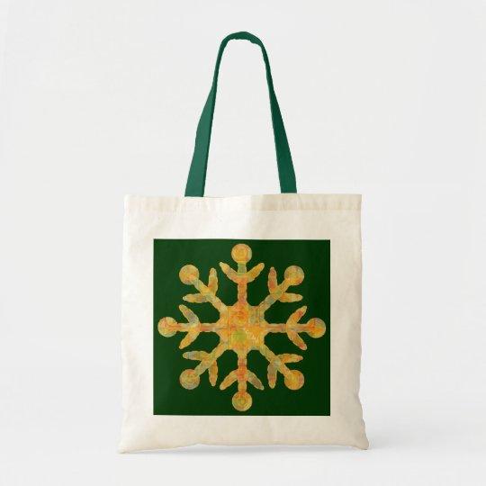 Snowflake Green Bag