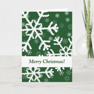 Snowflake Green Card