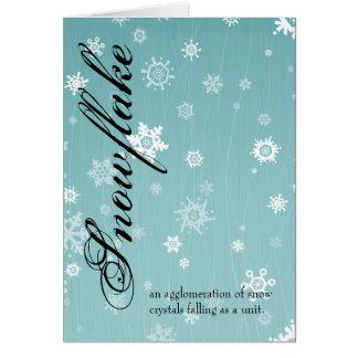 Snowflake Greeting Card