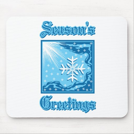Snowflake Greetings Mouse Pads