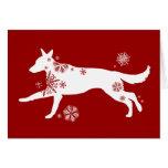Snowflake GSD Dog Holiday Greeting Card