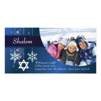 Snowflake Hanukkah Photo Card