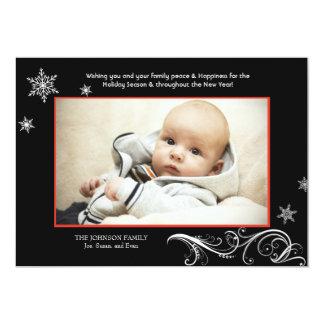 Snowflake Harmony - Photo Holiday Card