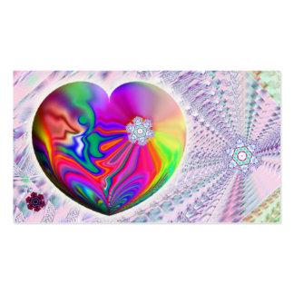 Snowflake Heart business card