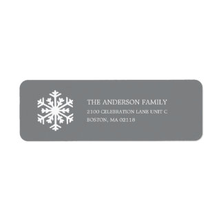 SNOWFLAKE HOLIDAY ADDRESS LABELS