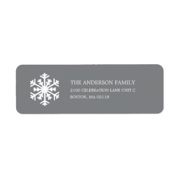 Christmas Themed SNOWFLAKE  | HOLIDAY ADDRESS LABELS