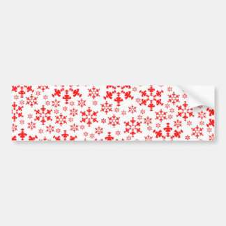 Snowflake Holiday Bumper Sticker