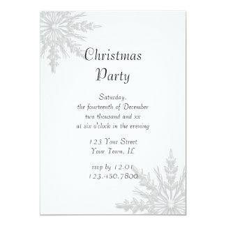 "Snowflake Holiday Christmas Party Invitation 5"" X 7"" Invitation Card"