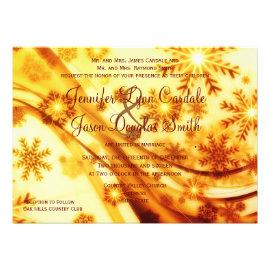 Snowflake Holiday Christmas Wedding Invitations