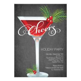 Snowflake Holiday Cocktail Party Invitation