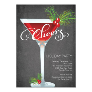 Christmas Cocktail Party Invitations Announcements Zazzle