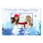 SNOWFLAKE Holiday Family Photo Greeting Card Personalized Invites
