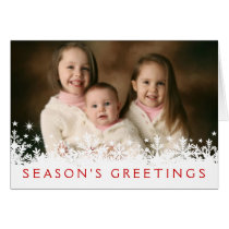 Snowflake Holiday Full-bleed Photo Greeting Card