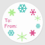 Snowflake Holiday Gift Tag Sticker