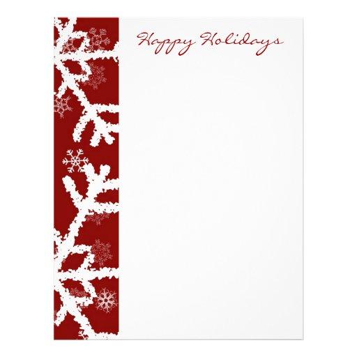 Snowflake Holiday Letterhead Template