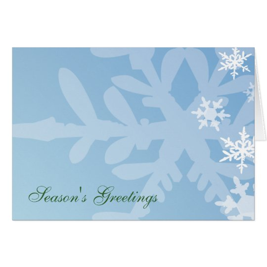 Snowflake Holiday Template