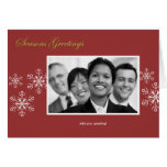 Snowflake Holiday Template Card