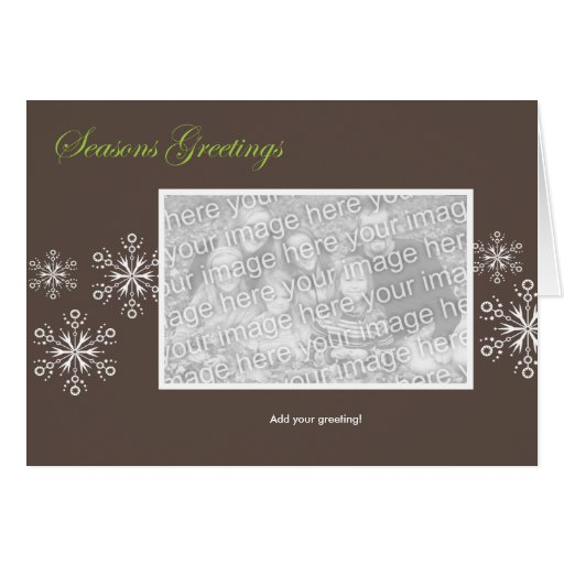 Snowflake Holiday Template Greeting Card