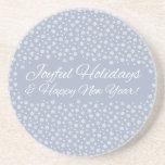Snowflake Holidays coaster