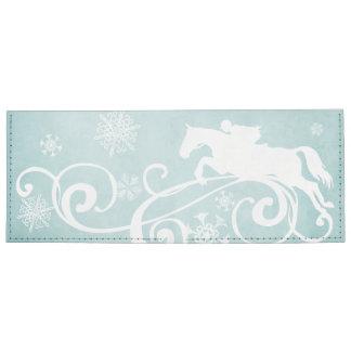 Snowflake Horse Holiday Christmas Billfold Wallet