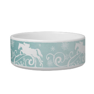 Snowflake Horse Holiday Christmas Bowl