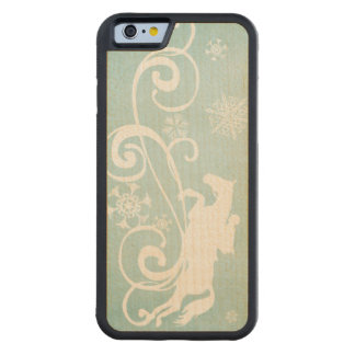 Snowflake Horse Holiday Christmas Carved® Maple iPhone 6 Bumper