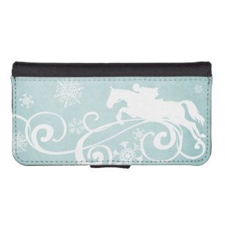 Snowflake Horse Holiday Christmas iPhone SE/5/5s Wallet