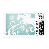 Snowflake Horse Holiday Christmas Postage
