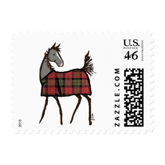 Snowflake Horse Holiday Christmas Postage Stamps