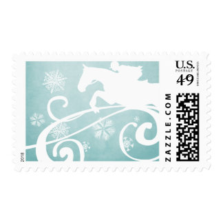 Snowflake Horse Holiday Christmas Stamp