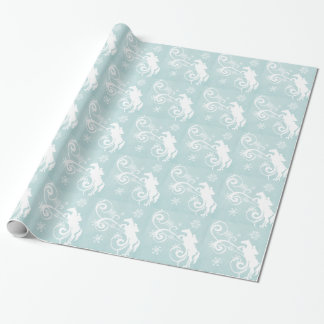 Snowflake Horse Holiday Christmas Wrapping Paper