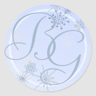Snowflake Ice Blue Stickers