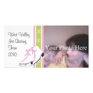 Snowflake Ice Skates Photo Card