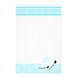 Snowflake Ice Skates Stationery