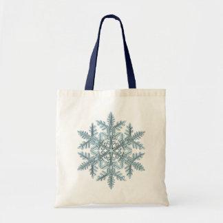 Snowflake Illustration Tote Bag