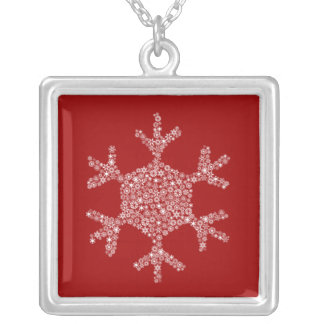 Snowflake in Snowflake Necklace