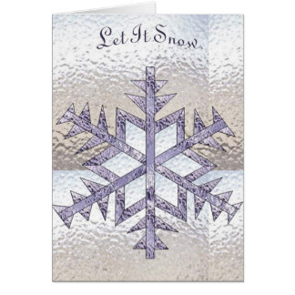 Snowflake in Stained Glass Card