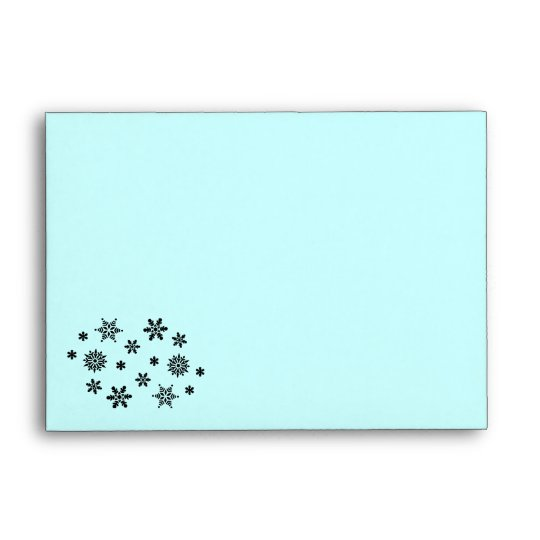 Snowflake Invasion Pattern Recycled A6 Envelope