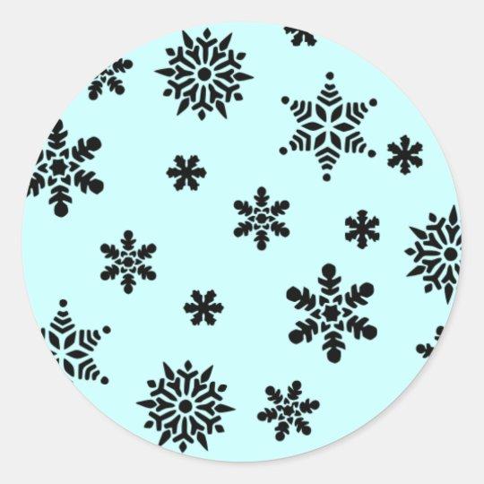 Snowflake Invasion Pattern Sticker