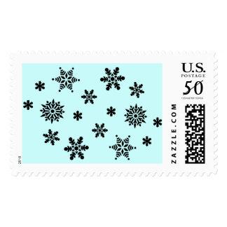 Snowflake Invasion Postage Stamp
