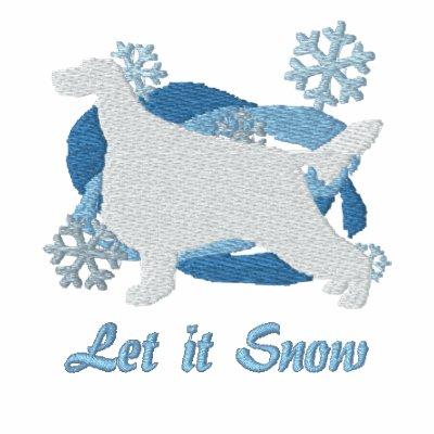 Snowflake Irish Setter Embroidered Shirt Hoodie
