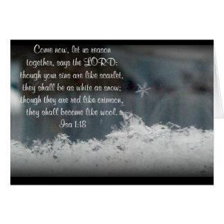 Snowflake ~ Isa 1:18 Greeting Cards
