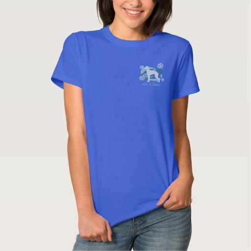 Snowflake Italian Greyhound Embroidered Shirt