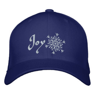 Snowflake Joy Embroidered Baseball Cap