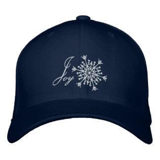 Snowflake Joy Embroidered Baseball Hat